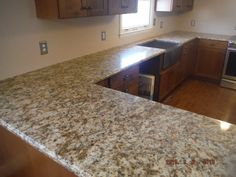 Giallo Napoli granite kitchen countertops for the Westbrooks family! Knoxville's Stone Interiors. Showroom located at 3900 Middlebrook Pike, Knoxville, TN. www.knoxstoneinteriors.com. FREE Estimates available, call 865-971-5800.