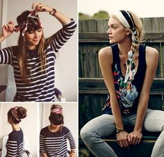 Scarf hairstyle. Perfect bad hair day idea - 12 Long Hairstyles For Everyone | CircleTrest
