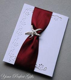 10 Rhinestone Buckle Diamante Crystal Slider Silver STARFISH Wedding Invitation Bouquet Jewelry Cake Decoration BK057. $15.98, via Etsy.