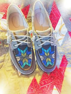 Tooled Sperry shoes Anderson Custom Leather