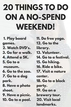 20 Free Things to Do This Weekend via Frugal Millennial #frugalweddingideasfun Things To Do When Bored, Free Things To Do, Things To Do Inside, Cheap Things, Fun Things, Cute Date Ideas, Date Ideas For New Couples, To Do This Weekend, Girls Weekend