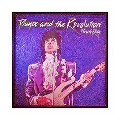 Glittered Prince Purple Rain Single Cover