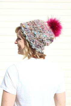 e06d7e4fb77 The Knit Collage  Perfect Slouch Hat  is the prettiest hat for this warmer  weather. Jimmy Beans Wool