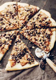 Pizza au chocolat & aux pommes