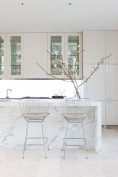 David Hicks kitchen in all white