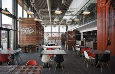 Nike Cafeteria - I like the mix of urban and modern looks