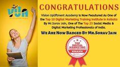 Digital Marketing Training Institute in Kolkata - Vision Upliftment Academy Social Media Digital Marketing, Online Digital Marketing, Marketing Topics, Internet Marketing, Business School, Online Business, Cyber Security Course, Leeds University, Marketing Training