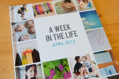 """A """"Week in the Life"""" photobook album by scrapbooker Tracy Larsen. 8x10 book printed by Blurb."""