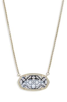 A finely etched setting complements the sparkling, faceted crystal centering this versatile pendant necklace. Best Running Shoes, Faceted Crystal, Something Blue, Kendra Scott, Sparkle, Nordstrom, Pendant Necklace, Crystals, Diamond