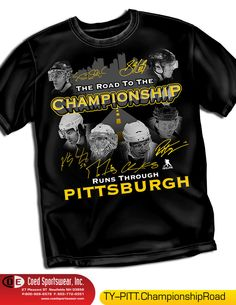 Pittsburgh Penguins Road to Championship Shirt featuring their Stars #NHLPA #PittsburghPenguins