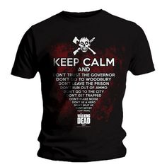 T-shirt The Walking Dead Keep Calm