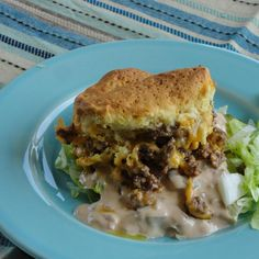 """I was looking through cheeseburger casseroles here on the site when a commercial for the Big Mac caught my attention.  Of course my wheels started turning...seasoned ground beef, homemade """"special sauce"""", cheese, refrigerated biscuits.   Hey - I think this could work!    Serve on a bed of shredded lettuce, onion, and pickle...don't forget the fries on the side.  (:  Southern Food With Flare"""