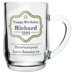 Personalised Star Tankard  from Personalised Gifts Shop - ONLY £9.99