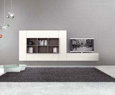 novamobili hangendes tv wand lowboard b 120 cm tv schrank hochglanz schlafzimmer wohnzimmer