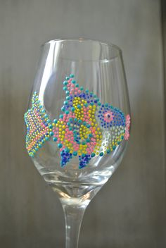 Image detail for -Hand Painted Wine Glasses Super FUN Fish by SteeleMagnoliaDesign