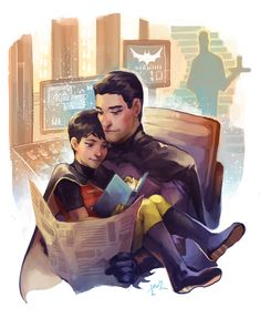 So anyone who's been talking to me recently knows my time's been eaten up by my new BATMAN OBSESSION sdlfjskdf In my headcanon Dick Grayson is a snugglebug.
