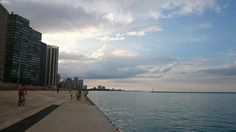 Lake Michiganの湖畔散歩道。