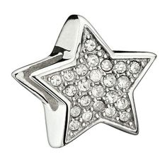 Chamilia - Silver Crystal Star Bead- H. Samuel the Jeweller