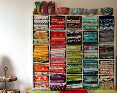 LOVE THIS!!!!! Color Order Fabric Shelf by maureencracknell, via Flickr