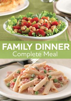 Not sure what to make for your family dinner? Try our delicious Creamy Ham and Penne Pasta paired with a perfect salad!