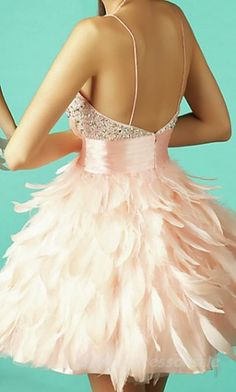 Baby doll Natural Prom Dresses Pink Spaghetti Strap Prom Dresses 03570