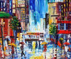 Karen Tarlton Original Oil Painting San Francisco by Karensfineart, $250.00