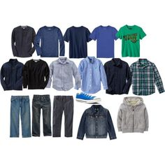 A Boy's Back-to-School Capsule Wardrobe. Transitioning from Summer to Fall Capsule Wardrobe.