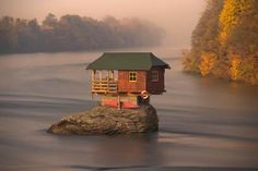 This Tiny Home Is Located Right In The Middle Of A River