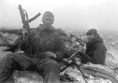"""apostlesofmercy: """" Two paratroopers catch a break after the Battle of Mount Longdon during the Falklands War - 12 June 1982. """""""