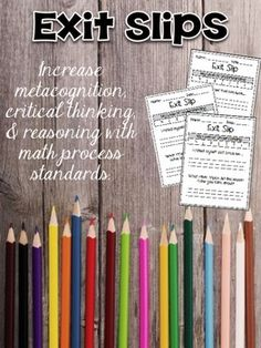 Encourage higher order thinking with these exit passes! Promote the math process standards with this collection of 50 exit passes! 3rd Grade Classroom, Third Grade Math, Math Classroom, Classroom Ideas, Classroom Inspiration, Grade 2, Future Classroom, Math Resources, Math Activities