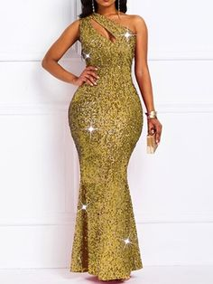 Sleeveless Sequins Oblique Collar Floor-Length Sexy Women's Dress Fashion girls, party dresses long dress for short Women, casual summer outfit ideas, party dresses Fashion Trends, Latest Fashion # Party Dresses For Women, Club Dresses, Sexy Dresses, Fashion Dresses, Prom Dresses, Long Dresses, Cheap Dresses, Formal Dresses, Wedding Dresses