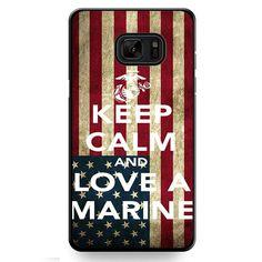 Keep Calm And Love A Marine Flag TATUM-6123 Samsung Phonecase Cover For Samsung Galaxy Note 7