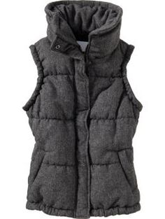 I love the idea of a vest made with the fabric of a peacoat.  I hope to see more of these next winter. (Oldnavy)