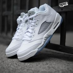 Air Jordan 5 Retro Low GG white/wolf grey (metallic silver)