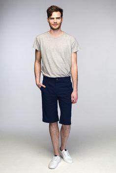 Shorts, Men, Fashion, Dark Blue, Moda, Fashion Styles, Guys, Fasion, Chino Shorts