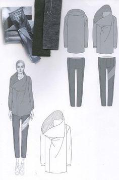 f73555724ed7 Fashion Sketchbook layout with fashion drawings   fabrics  fashion  portfolio    Emily-Mei
