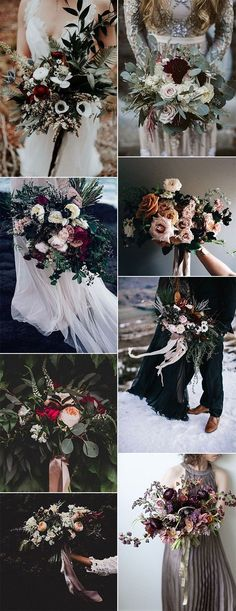 romantic moody wedding bouquet ideas for 2018 trends #weddingflowers #weddingbouquets #weddingideas