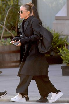 Mary-Kate Olsen Goes Oversized From Head To Toe