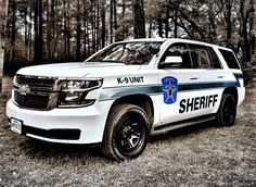 K9 Sheriff's Department vehicle (MD) - Chevy Tahoe from the Caroline County Sheriff's office on Maryland's eastern shore.