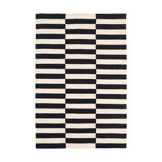 Madeline Weinrib's Black & White Buche Wool Flatweave Carpet