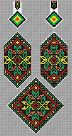 Colorful necklace - ukraine pattern -  loom pattern ... inspired by: https://s-media-cache-ak0.pinimg.com/564x/07/78/43/077843f6de77763529448185a3f72a41.jpg
