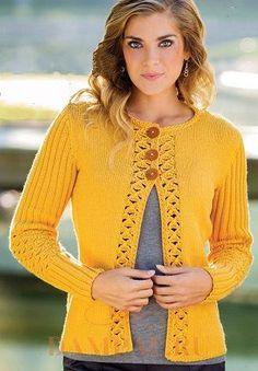 Желтый кардиган – яркий, солнечный, притягательный. Обсуждение на LiveInternet - Российский Сервис Онлайн-Дневников