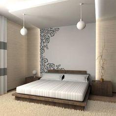 TENDÊNCIA: ADESIVO DE PAREDE PARA O QUARTO DO CASAL - http://www.decoracaodecoracao.com/tendencia-adesivo-de-parede-para-o-quarto-do-casal