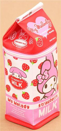 funny My Melody rabbit milk carton pencil case from Japan - Pencil Cases - Stationery - kawaii shop modeS4u