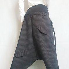 Avant Garde Pants /Harem Pants Women /Drop Crotch Pants/ Baggy   Etsy Baggy Pants, Casual Pants, Military Combat Boots, Harem Trousers, Drop Crotch Pants, Black Pants, Pants For Women, Cotton, Clothes