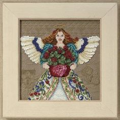 Summer Angel - Cross Stitch Kit Completed