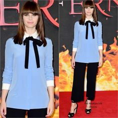Felicity Jones in Gucci at the Inferno London Photocall