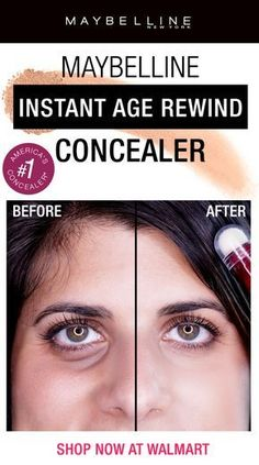 See why the Maybelline Instant Age Rewind Concealer is a fan favorite! This drugstore anti-aging undereye concealer feat… Brown Spots On Skin, Skin Spots, Dark Spots, Brown Skin, Makeup Tricks, Makeup Steps, Beauty Care, Beauty Hacks, Beauty Skin