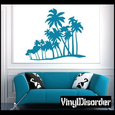 Palm Tree Wall Decal - Vinyl Decal - Car Decal - NS009