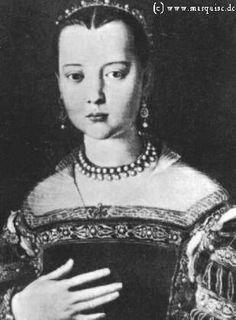 Maria de' Medici aged 11 by Bronzino, 1551